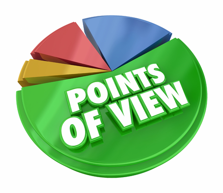 Points of View Pie Chart Different Opinions Survey 3d Illustration