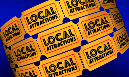 Local Attractions Ticket Admission Enter Visit 3d Illustration Foto de archivo - 95240252