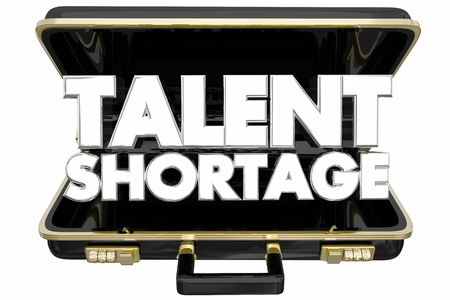 Talent Shortage Help Wanted Briefcase Find New Employees 3d Illustration Foto de archivo - 95188839