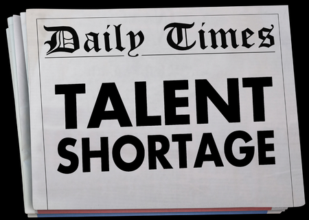 Talent Shortage Newspaper Headline Job Candidate Drought 3d Illustration
