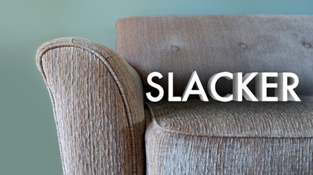 Slacker Lazy Couch Relaxation Word 3d Illustration Stock Photo