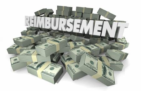Reimbursement Payback Money Get Paid Word 3d Illustration Foto de archivo