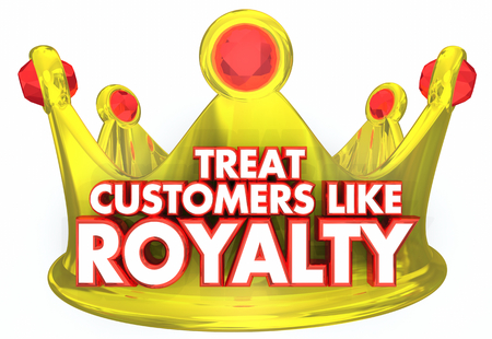 Treat Customers Like Royalty VIP Treatment Crown 3d Illustration Stock Photo
