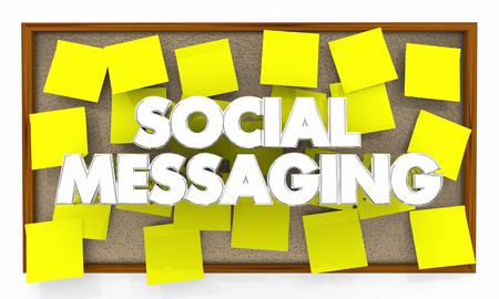 Social Messaging Bulletin Board Network 3d Illustration Imagens