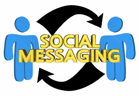 Social Messaging Communication People Arrows 3d Illustration