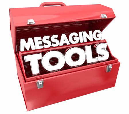 Messaging Tools Communication Toolbox 3d Illustration 版權商用圖片