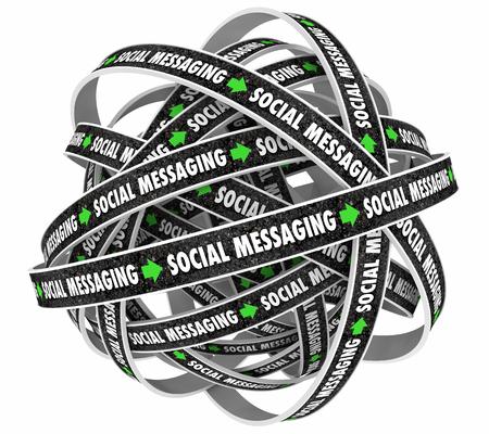 Social Messaging Communication Loop Network 3d Illustration