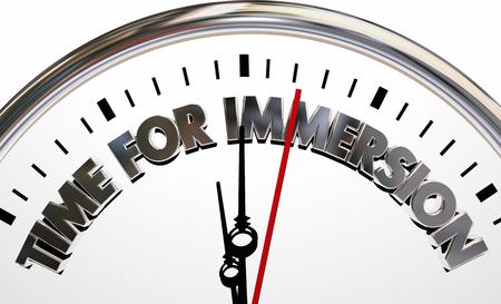 Time for Immersion Clock Total Complete Service 3d Illustration