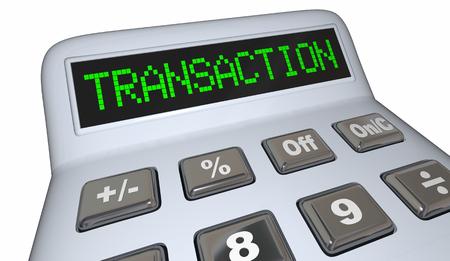 Transaction Calculator Adding Money Exchange Purchase Buy 3d Illustration