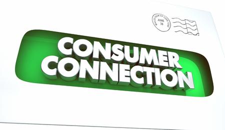 Consumer Connection Envelope Communication Message 3d Illustration