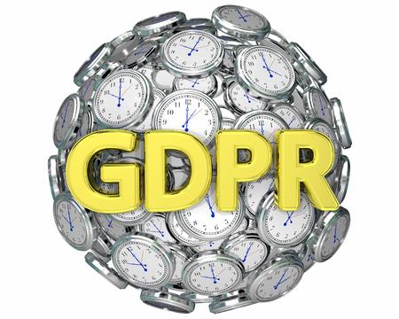 GDPR Time Clocks Deadline Countdown Privacy Rules 3d Illustration
