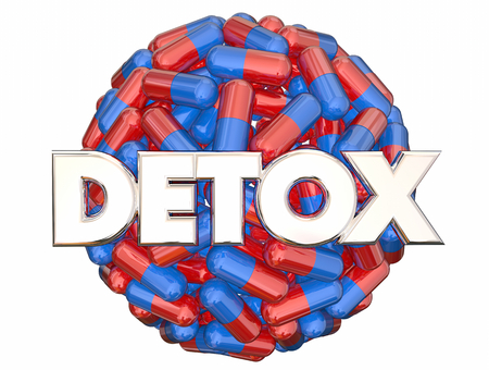 Detox Medicine Addiction Withdrawal 3d Illustration