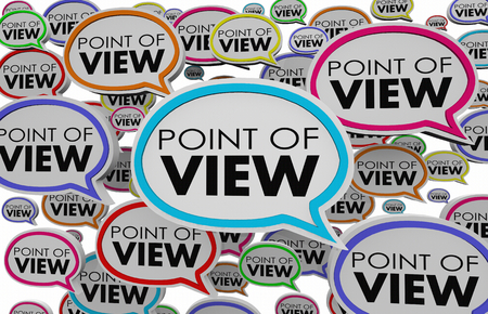 Point of View Speech Bubbles Opinions Different Answers 3d Illustration