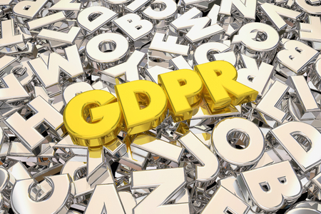 GDPR General Data Protection Regulation Acronym 3d Illustration