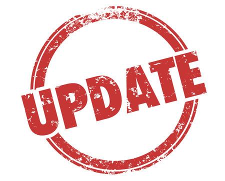 Update Stamp New Information Updating Release Illustration