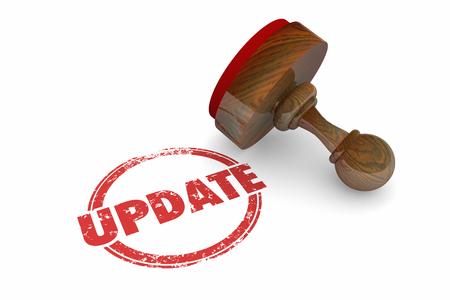 Update Stamp New Information Latest Product 3d Illustration Banque d'images