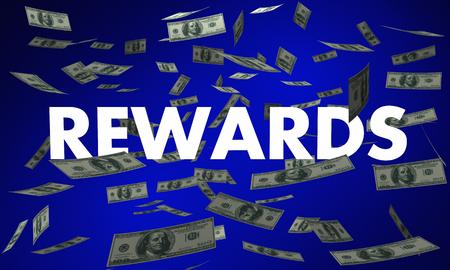 Rewards Money Back Falling Bonus 3d Illustration