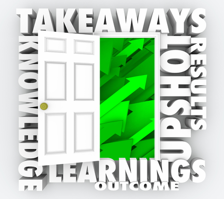 Takeaways Door Open New Information Knowledge 3d Illustration