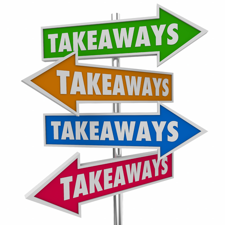 Takeaways Arrow Signs New Information Knowledge 3d Illustration