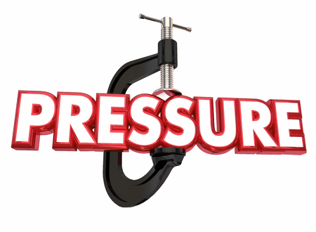 Pressure Clamp Vice Squeezing Stress 3d Illustration