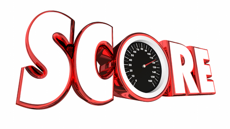 Score Speedometer Tracking Tally Game Results 3d Illustration Stock Photo