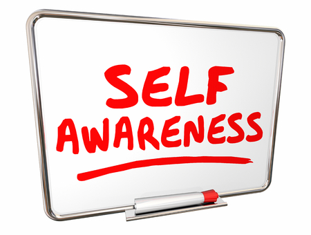 Self Awareness Knowledge Understanding Dry Erase Board Words 3d Illustration