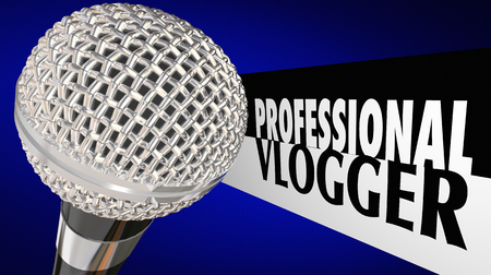 Professional Vlogger Video Blogger Internet Celebrity 3d Illustration