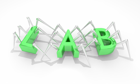 Lab Science Laboratory Invention Word 3d Illustration Stock fotó - 95988875