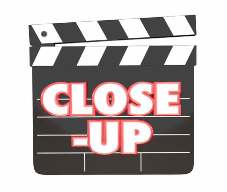 Close-Up Movie Clapper Board Film Studio Shoot 3d Illustration Imagens