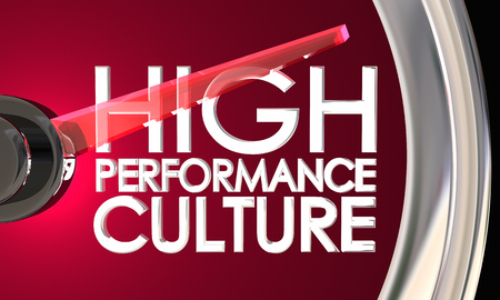 High Performance Culture Level Speedometer 3d Illustration
