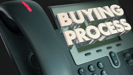 Buying Process Telephone Selling Sales Buyer 3d Illustration