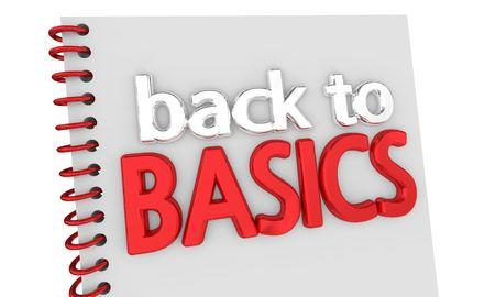 Back to Basics Book Advice Fundamentals 3d Illustration