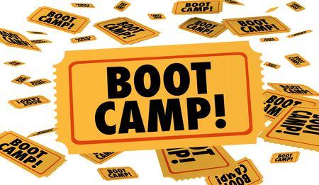 Boot Camp Ticket Fitness Entrenamiento inmersivo Ilustración 3d