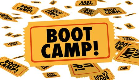 Boot Camp Ticket Fitness Immersive Training 3d Illustration