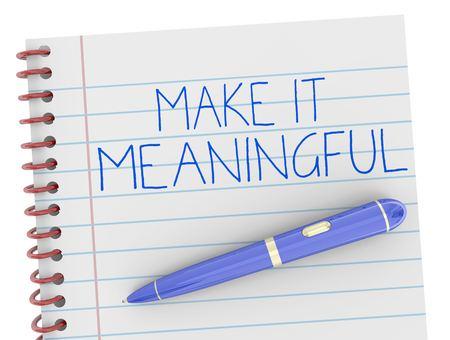 Rendilo all'illustrazione significativa di Pen Writing Words 3d