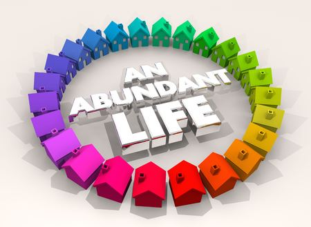 An Abundant Life Home Comfortable Living 3d Illustration Banco de Imagens - 96152533