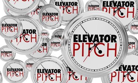 Elevator Pitch Clocks Quick Sales Proposal 3d Illustration