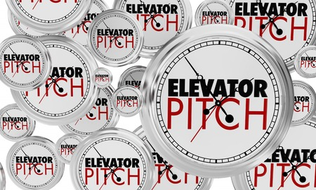 Elevator Pitch Clocks Quick Sales Proposal 3d Illustration