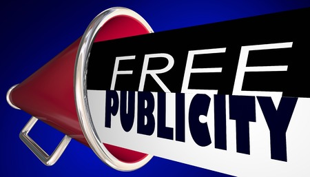 Free Publicity Megaphone Bullhorn PR Exposure 3d Illustration Stock Photo