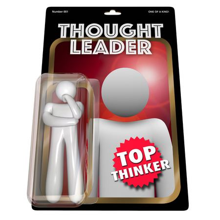 Thought Leader Thinker Action Figure 3d Illustration