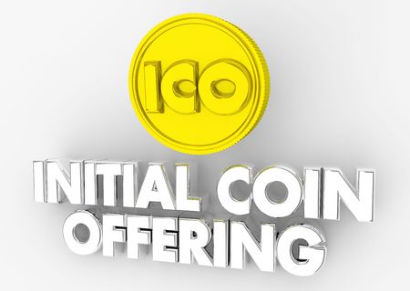 ICO Initial Coin Offering Cryptocurrency 3d Illustration