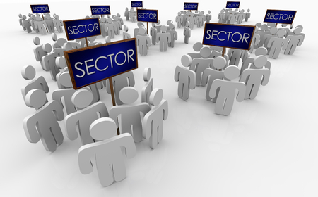 Sector People Segments Groups Demographics Signs 3d Illustration