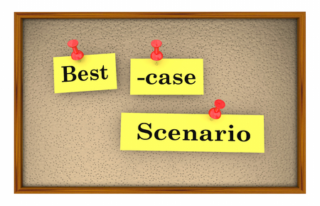 Best-Case Scenario Bulletin Board Planning 3d Illustration