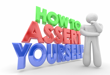 How to Assert Yourself Thinker Bold Confidence 3d Illustration