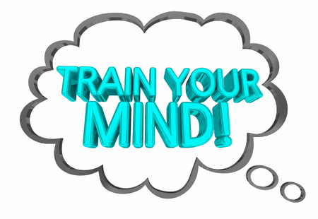 Train Your Mind Thought Cloud Mental Exercise 3d Illustration