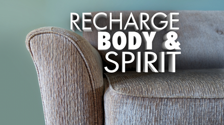 Recharge Body Spirit Relax Rest Couch 3d Illustration
