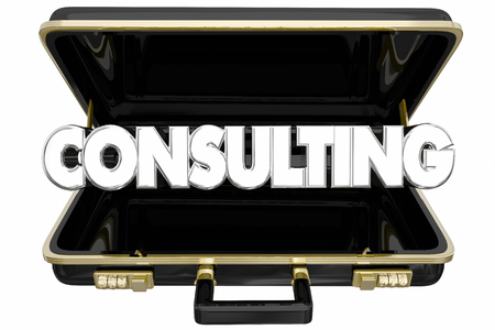 Consulting Briefcase Meeting Presentation Consultant 3d Illustration