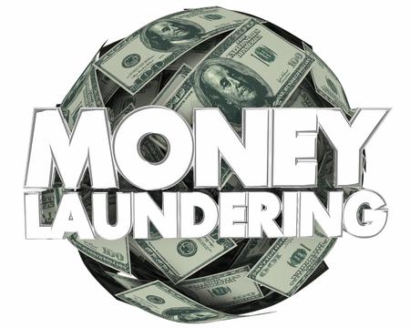 Money Laundering Cash Ball Illegal Income 3d Illustration