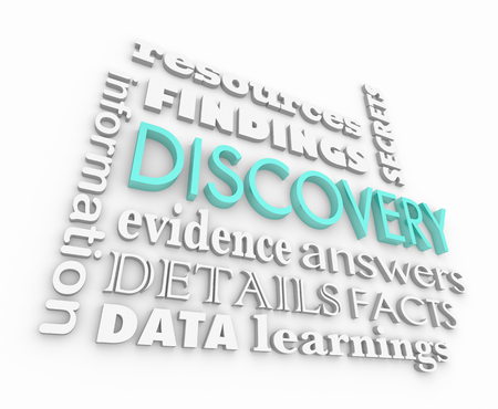 Discovery Findings Information Facts Evidence Word Collage 3d Illustration