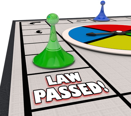 Law Passed Board Game Passing Legislation Process 3d Illustration Stok Fotoğraf